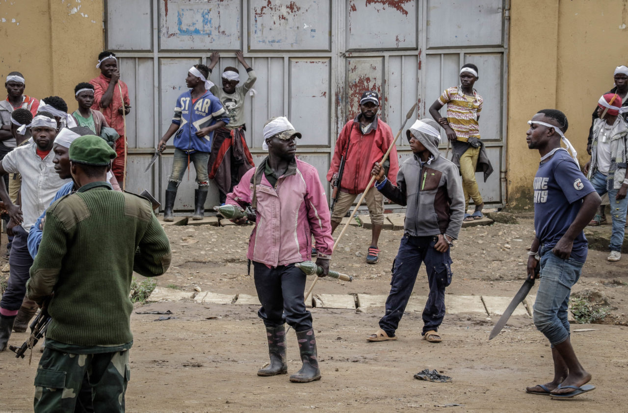 Bunia, DRC, September 4, 2020. More than 100 heavily armed CODECO militiamen caused panic when they entered the eastern Congolese city of Bunia last Friday. © Dieudonné Dirole for Fondation Carmignac