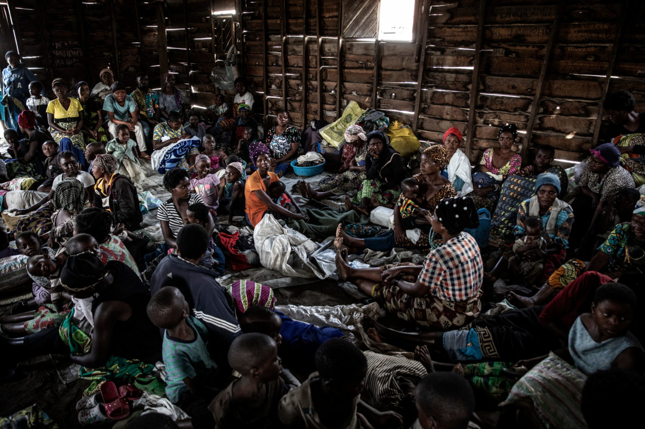Women and children take shelter in a church in the town of Sake in eastern Democratic of Congo on Wednesday, 11 days after a volcanic eruption forced the evacuation of much of the nearby city of Goma and left 32 people dead and 20,000 homeless. Hundreds of thousands of people have been displaced, and more than 500,000 people have no access to clean drinking water after Goma's main reservoir and pipes were damaged during the eruption. Finbarr O'Reilly for Fondation Carmignac