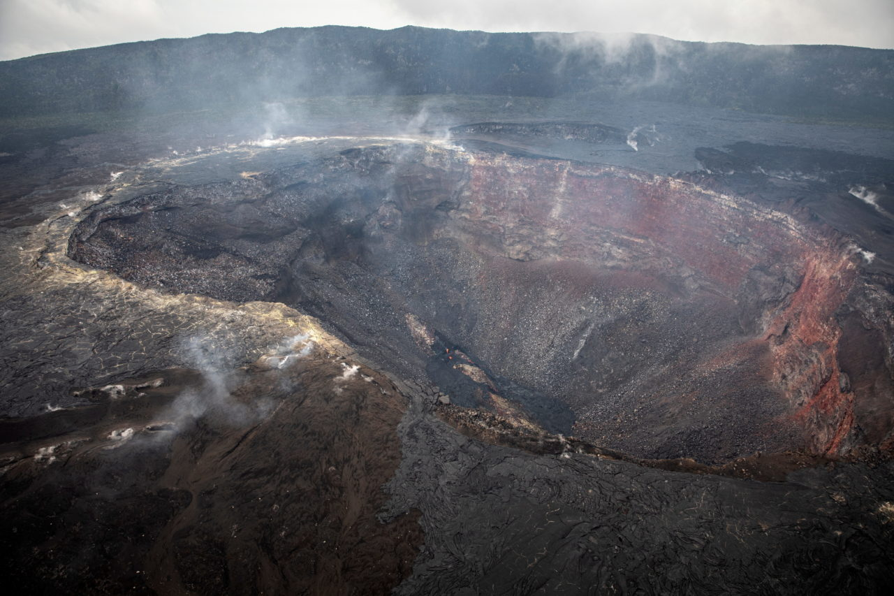 Smoke and fumes in the crater of Mount Nyamulagira in eastern Democratic of Congo on Sunday May 30, eight days after the eruption of the adjacent Mount Nyiragongo forced the evacuation of much of the nearby city of Goma and left 32 people dead and 20,000 homeless. Finbarr O'Reilly for Fondation Carmignac